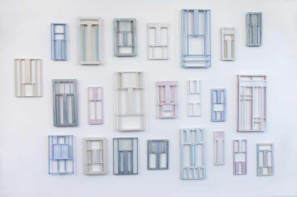 "Tayo Heuser ""Windows"" handmade and hand tinted abaca and linen paper"