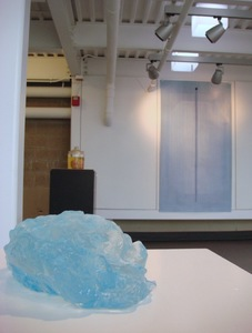 "Tayo Heuser ""The Big Blue"" Exhibition Gallery Roger Williams University"