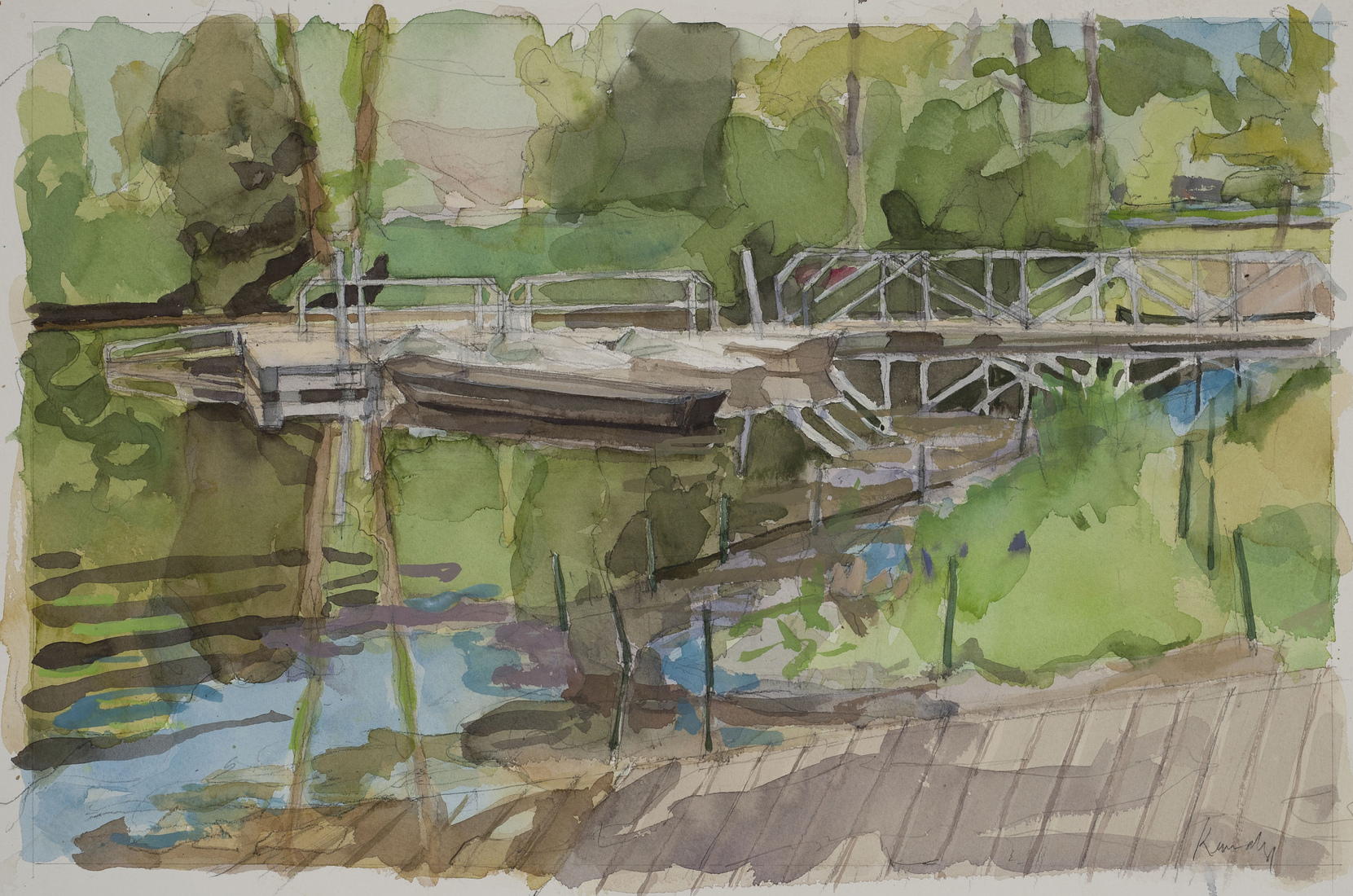Watercolors Dock / Griffy Lake
