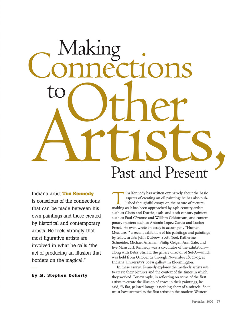 Making Connections to Other Artists, Past and Present