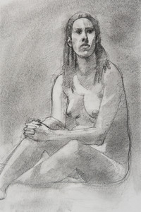 Figure Drawings charcoal and graphite