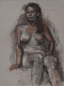 Figure Drawings charcoal and conte