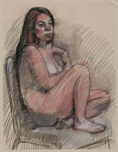 Figure Drawings charcoal, conte and pastel
