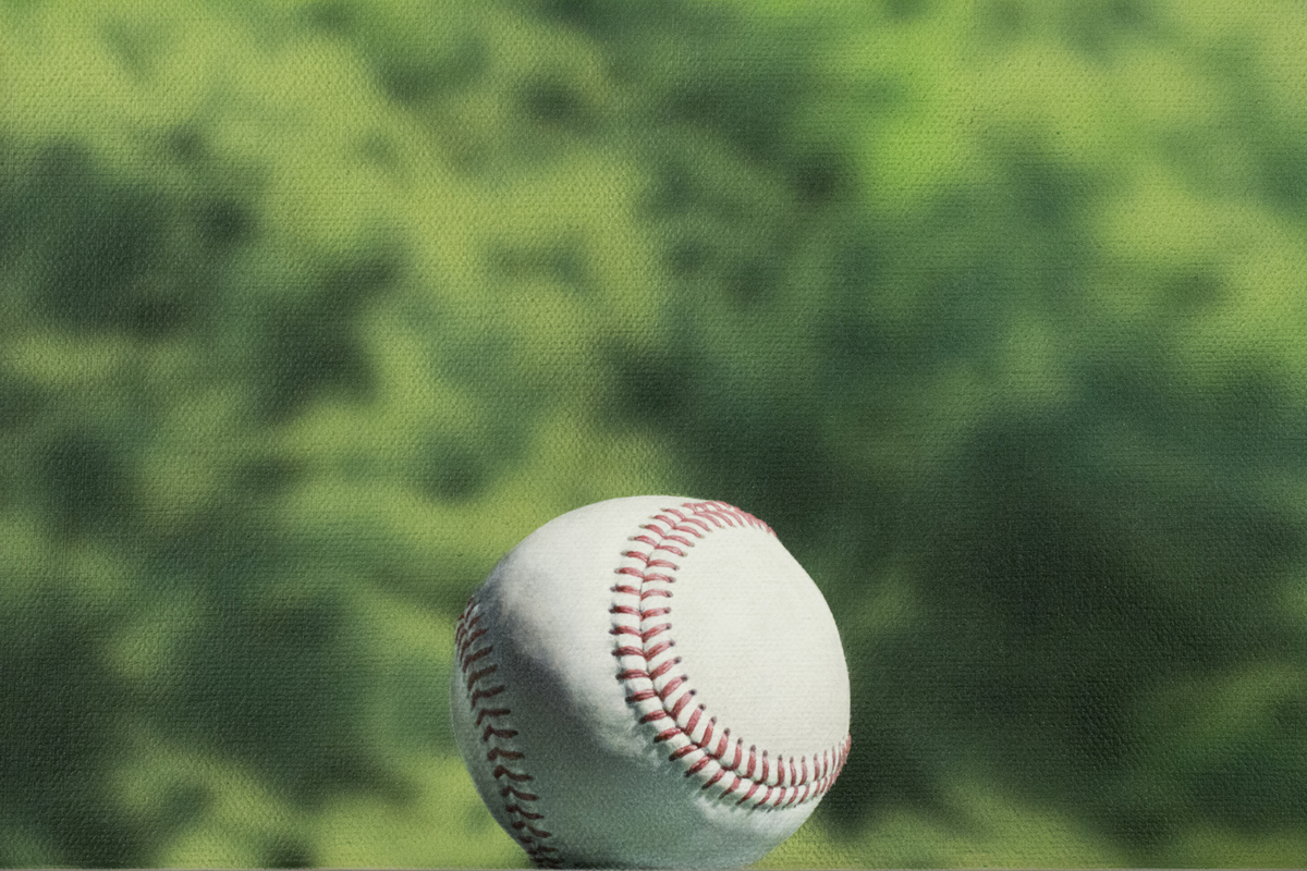 Todd Hebert  detail, Baseball with Chance of Rain<br/>