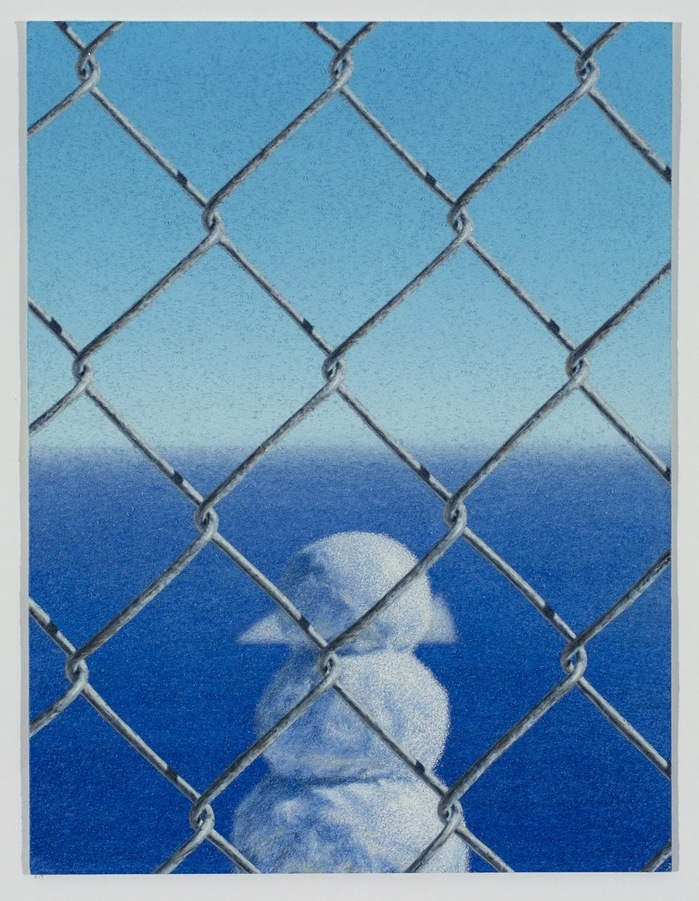 Work Fence with Snowman and Iceberg, 2017