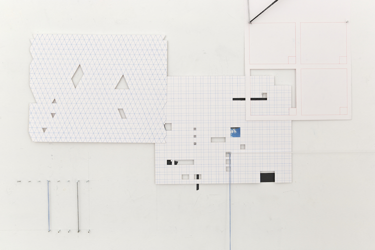 ZAUN LEE broken grids mixed media