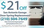 Garage Door Spring Replacement San Antonio in San Antonio, DC, photo #1