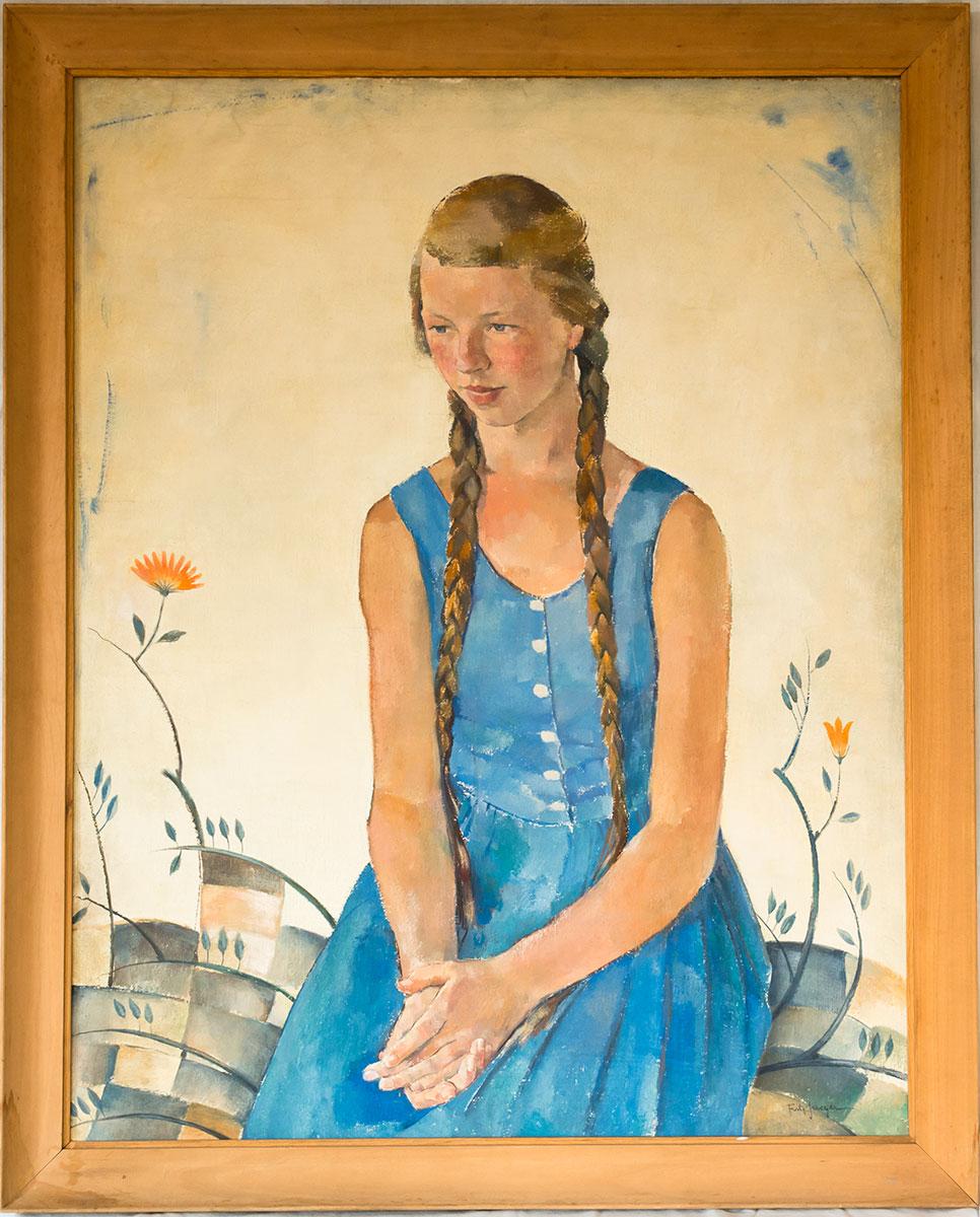 Girl in Blue Dress*