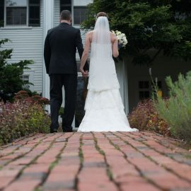 Bride And Groom On Bricks
