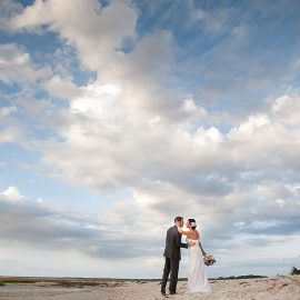 Bride And Groom With Clouds