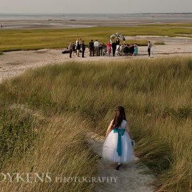 Flower Girl On Dunes