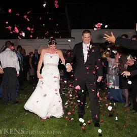 Throwing Petals At Couple