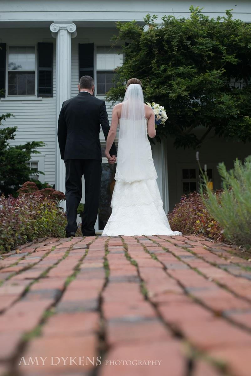 Bride And Groom On Bricks