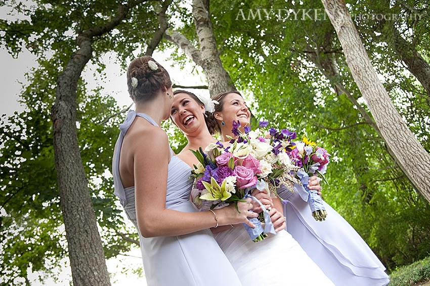 Bride Smiling With Flowers