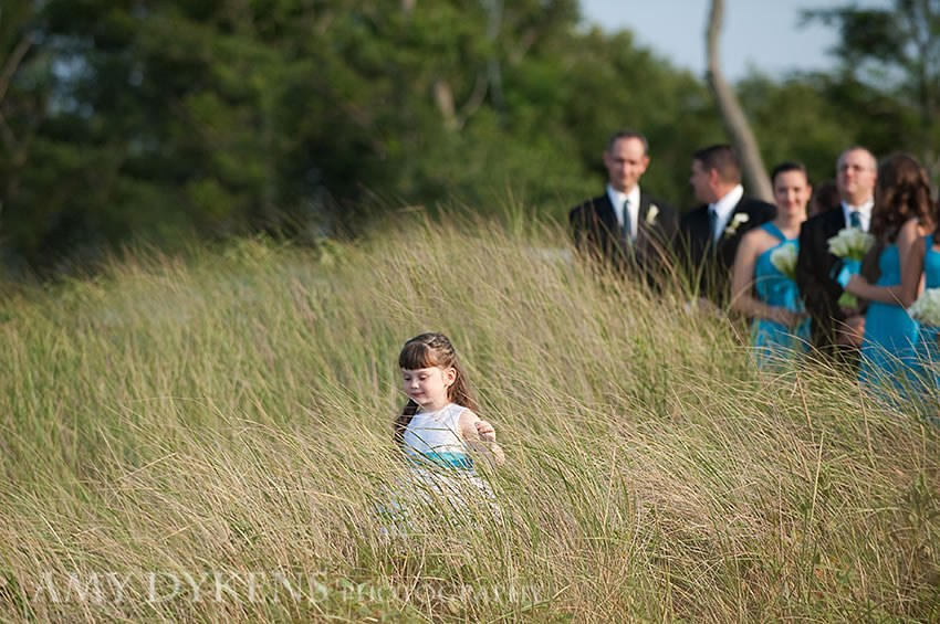 Flower Girl In Beach Grass