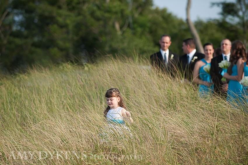 Flower Girl In Beach Grass