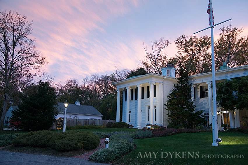 Pink Sky Over Captain Linnell House