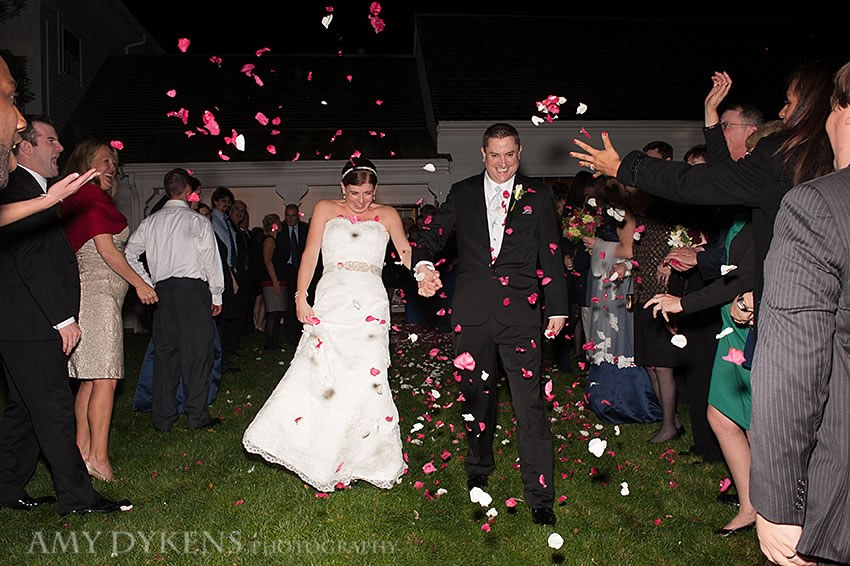 Throwing Petals At Couple