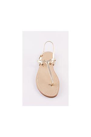 Sandalo platino modello nodino caprese Cuccurullo | 5032256 | CUC02ORO