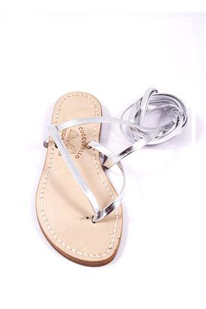 Sandalo Caprese modello schiava infradito Cuccurullo | 5032256 | CUC11ARGENTO