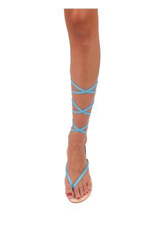 Sandalo Caprese modello schiava azzurro Cuccurullo | 5032256 | CUC11AZZURRO