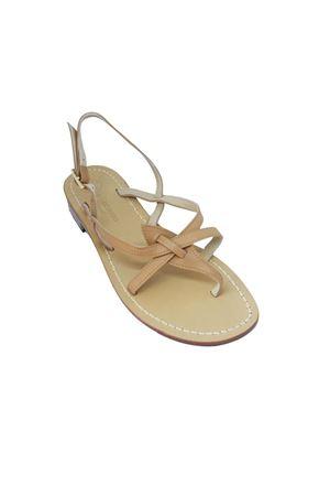 Handmade nude Capri sandals Da Costanzo | 5032256 | 02/CBEIGE