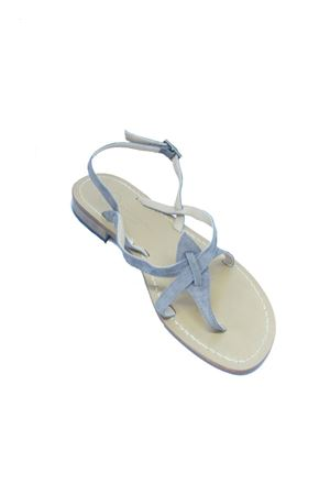 Grey Capri sandals in suede Da Costanzo | 5032256 | 02/CGRIGIO