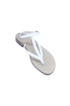 White leather Capri Sandals Da Costanzo | 5032256 | 2031/CBIANCO