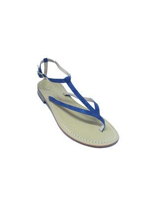 Blue Suede Capri Sandals Da Costanzo | 5032256 | 2031/CBLU