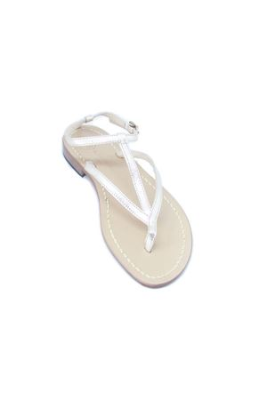Platinum leather  Capri Sandals Da Costanzo | 5032256 | 2031/CPLATINO