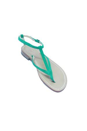Green Suede Capri Sandals Da Costanzo | 5032256 | 2031/CVERDE