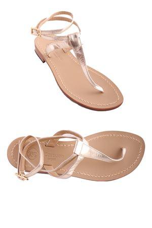 Sandali capresi oro con laccio alla caviglia Da Costanzo | 5032256 | 2249/BRORO
