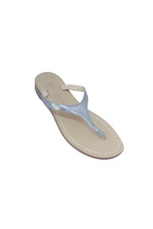 Flip Flops Silver Capri sandals Da Costanzo | 5032256 | 2257ARGENTO