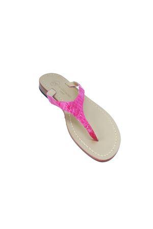 Sandali capresi infradito in pelle di pitone fuxia Da Costanzo | 5032256 | 2257FUXIA