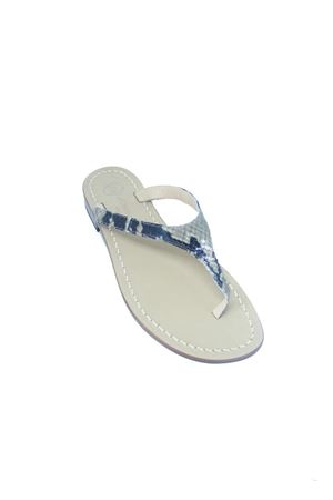 Sandali capresi infradito in pelle di pitone Da Costanzo | 5032256 | 2257PITONE