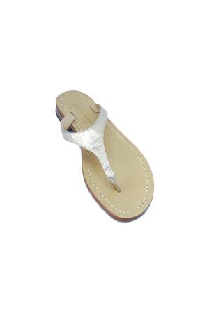 Flip Flops platinum Capri sandals Da Costanzo | 5032256 | 2257PLATINO