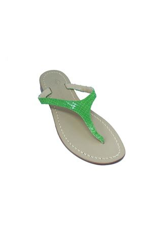 Green Flip Flops Capri sandals Da Costanzo | 5032256 | 2257VERDE