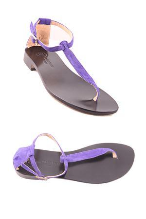 Sandali capresi con suola nera Da Costanzo | 5032256 | 2401/CNERO