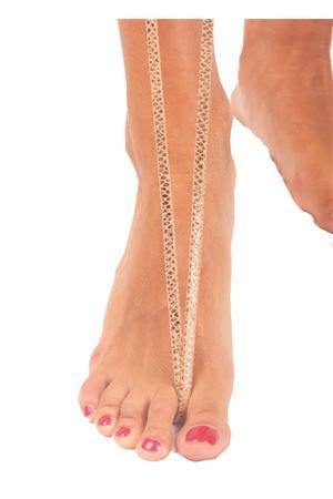 Laminated pink Capri Sandals Da Costanzo | 5032256 | INTRECCIO OROVIPERINA SALMONE