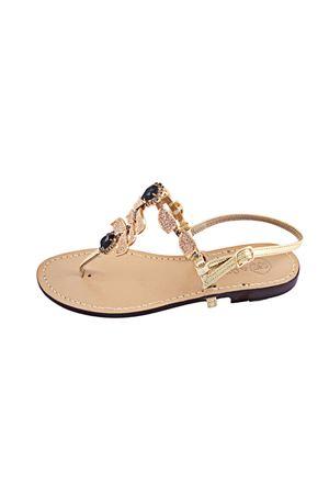 Sandali capresi gioiello Da Costanzo | 5032256 | S2385ROSANERO
