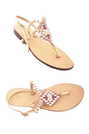 Capri Jewel Sandals Da Costanzo   5032256   S3062VIOLA/BIANCO