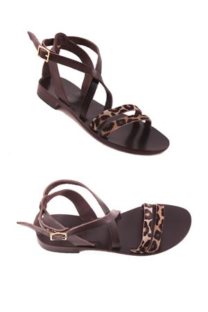 Animalier Capri Sandals Da Costanzo | 5032256 | TV113LEOPARDO
