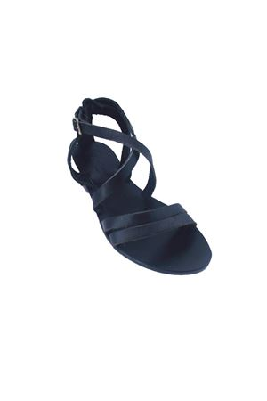 Black handmade Capri Sandals Da Costanzo | 5032256 | TV113NERO