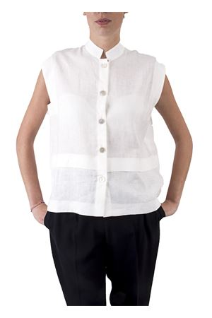 Linen sleevless shirt Laboratorio Capri | 6 | LAB46BIANCO