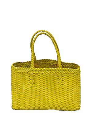 Borsa fatta a mano in pelle intrecciata gialla Laboratorio Capri | 31 | LAB51GIALLA