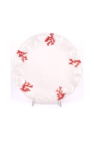 Plate with marine motifs Sea Gull Capri | 20000026 | 16541ROSSO