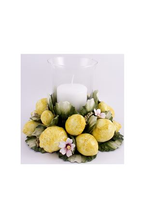 Candle-holder with Capri lemons Sea Gull Capri | 20000025 | 3081LIME