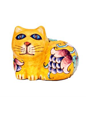 Ceramic Cat Sea Gull Capri | 20000025 | MICIO SEDUTOSEDUTOGIALLO