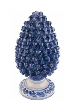 Pigna decorativa in ceramica blu Sea Gull Capri | 20000025 | PIGNA40BLU