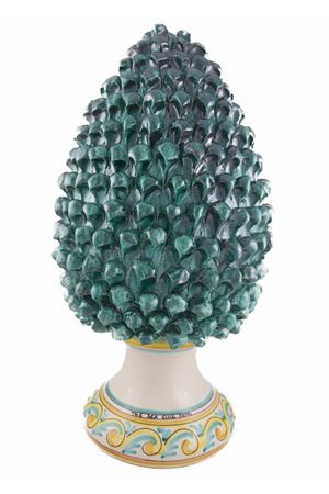 Pigna decorativa in ceramica Sea Gull Capri | 20000025 | PIGNA55VERDE